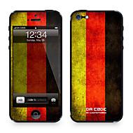 Недорогие Защитные плёнки для экрана iPhone-1 ед. для Защита от царапин Флаг Узор iPhone4/4S