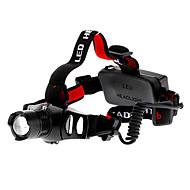 Headlamps Headlight LED 200 lm 3 Mode Cree XR-E Q5 Zoomable Adjustable Focus Rechargeable Tactical Camping/Hiking/Caving