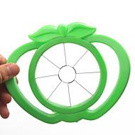 abordables Medidores y Balanzas-herramienta de manzana de plástico en forma fácil fruto cortador de la máquina de cortar (colores aleatorios)