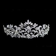 Women's Rhinestone Alloy Headpiece-Wedding Tiaras Elegant Style