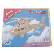 billige Legetøj og hobbyartikler-3D-puslespil Træpuslespil Helikopter Sjov Træ Klassisk Børne Gave