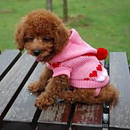 저렴한 -고양이 강아지 스웨터 후드 강아지 의류 심장 랜덤 색상 면 코스츔 제품 겨울