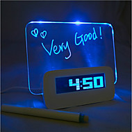Message Board Blue Light Digital Alarm Clock with 4 USB Port Hub (USB)