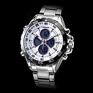 WEIDE Muškarci Vojni sat Ručni satovi s mehanizmom za navijanje Kvarc Japanski kvarc LCD Kalendar Kronograf Vodootpornost Sat s dvije