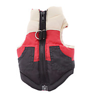 Dog Coat Vest Dog Clothes Cotton Winter Spring/Fall Classic Casual/Daily Color Block Costume For Pets