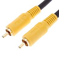 abordables Accesorios Electrónicos-10m 32.8ft jsj® rca macho a macho negro cable de vídeo para cine en casa DVD