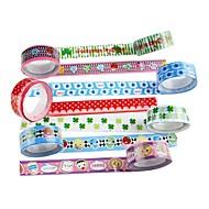 abordables Papelería-cinta adhesiva de lujo (juego de 4 colores aleatorios) para la escuela / oficina
