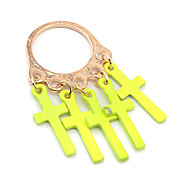 Candy Color Cross Pendant Ring(Assorted Color)