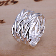 Women's Band Ring Alloy Open Ring Jewelry For Daily Adjustable