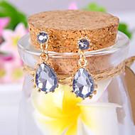 billige -Dame Dråpeøreringer Elegant Mote Luksus Smykker Europeisk Syntetiske Edelstener Fuskediamant Legering Dråpe Smykker Til Daglig