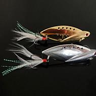 お買い得  釣り用アクセサリー-1 個 ハードベイト メタルベイト バイブレーション ルアー メタルベイト バイブレーション ハードベイト メタル 海釣り 川釣り