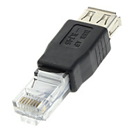 cheap $0.99-USB 2.0 Female to RJ45 Male Adapter Black for Ethernet