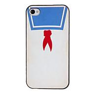 Chinese School Uniform Pattern PC Hard Case with Black Frame for iPhone 4/4S