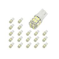 preiswerte -10 x T10 20 SMD 1210 weiße LED Auto-Glühlampe 194 168 2825 W5W