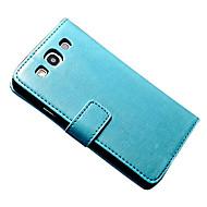 voordelige Galaxy S5 Hoesjes / covers-hoesje Voor Samsung Galaxy Samsung Galaxy hoesje Kaarthouder Portemonnee met standaard Flip Magnetisch Volledig hoesje Effen Kleur
