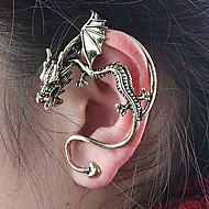 お買い得  -女性用 スタッドピアス 耳の袖口  -  ドラゴン オリジナル, ユニーク, ヴィンテージ シルバー / 青銅色 用途 パーティー 日常