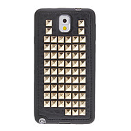 Punk Style Gold Rivet mønster Soft Back Case Cover til Samsung Galaxy Note3