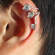 ieftine -Pentru femei Cătușe pentru urechi Leaf Shape femei Punk European Argilă cercei Bijuterii Auriu / Argintiu Pentru Zilnic 1 buc