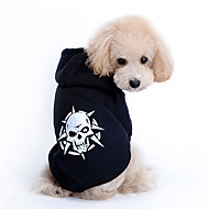 Dog Hoodie Dog Clothes Skull Cotton Costume For Spring &  Fall Men's Women's Fashion