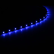 voordelige LED-snoerverlichting-0.3M 15x1210SMD Cool White \ Blue Light LED Waterdichte Flexibele String Light (DC 12V)