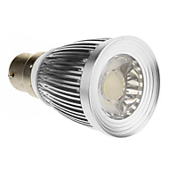 B22 7W 1xCOB 600-630lm 6000-6500K Super White Light Spot LED Bulb (85-265V)