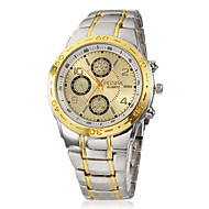 baratos -Homens Relógio de Pulso Quartzo Prata Analógico Dourado / Prateado Um ano Ciclo de Vida da Bateria / SSUO 377