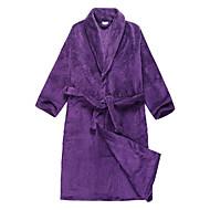 Szlafrok, welurowa Fioletowy Stały Kolor odzieży - 2 Rozmiar Dostępny