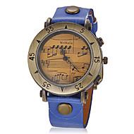 voordelige Modieuze horloges-Dames Modieus horloge Kwarts PU Band Vintage Zwart Wit Blauw Rood Brons