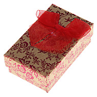 Sweet Red Paper Jewelry Box For Jewelry Set(Necklace & Earrings & Ring) (Red)(1 Pc)