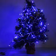 voordelige LED-verlichtingsstrips-10M Verlichtingsslingers 100 LEDs Dip LED / EL Blauw Feest / Bruiloft / Kerst Bruiloft Decoratie 220-240 V 1 set / IP44
