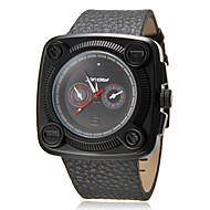 baratos -Praça Moda Masculina Dial PU banda quartzo analógico relógio de pulso (cores sortidas)