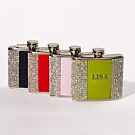 abordables Copas y Vasos Personalizados-mayúsculas 5 oz de metal regalo del día de padre personalizado frasco con diamantes de imitación