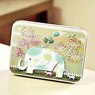 abordables -boîte motif de l'étain de l'éléphant rectangle
