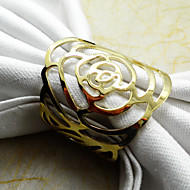cheap Tableware-Metal Mini Napkin Ring Patterned Eco-friendly Table Decorations