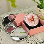 abordables Novedades Personalizadas-Estilo personalizado regalo de la mariposa Rosa Chrome Espejo compacto