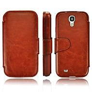 Top Grade PU Business Leather case with Card Slot for Samsung Galaxy SIV S4/i9500