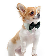 Dog Tie / Bow Tie Dog Clothes White Orange Green Cotton Costume For Spring &  Fall Summer Winter Wedding
