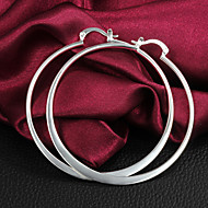 여성 링 귀걸이 의상 보석 은 도금 Circle Shape 보석류 제품