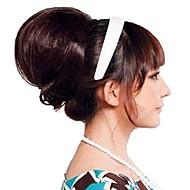 nainen muoti nuttura häät morsian pulla synteettistä hiuslisäke hiukset lämpöä kestävä kuitu halvalla cosplay puolue hiustenpidennykset