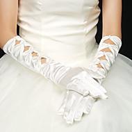 voordelige Handschoenen & Wanten-Stretchsatijn Ellebooglengte Handschoen Bruidshandschoenen Feest/uitgaanshandschoenen