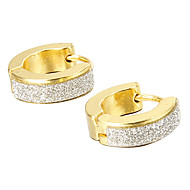 Men's Stainless Steel Stud Earrings - Fashion Gold / Silver Earrings For Christmas Gifts Party Daily