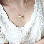Недорогие $0.99 Модное ювелирное украшение-Жен. Ожерелья с подвесками - Сердце, Любовь Простой стиль Серебряный, Золотой Ожерелье Бижутерия Назначение Для вечеринок, День рождения, Подарок