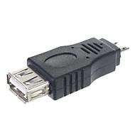 abordables Accesorios para Tablet y PC-USB 2.0 una hembra al varón micro Adaptador / OTG Conector Tablet / Conector de PC (Negro)