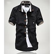 Casual Stripes Enfeite Magro camisa dos homens
