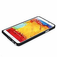 Mert Samsung Galaxy Note Ütésálló / Ultra-vékeny Case Védőkeret Case Egyszínű Alumínium Samsung Note 3