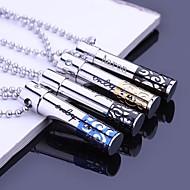 abordables Regalos Personalizados-Joyería personalizada Regalos Hollow acero inoxidable grabado collar colgante con cadena de 60cm