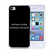 abordables Fundas de iPhone Personalizadas-personalizado motivación palabras patrón asunto negro para el iphone 4/4s