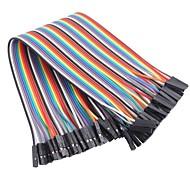 billige Arduino tilbehør-hun til hun farvebånd flad kabel jumper dupont 40-wire 1p-1p 2.54mm til (til Arduino) (20cm)
