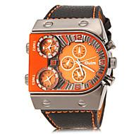 Недорогие Фирменные часы-Oulm Муж. Армейские часы Наручные часы Кварцевый С тремя часовыми поясами PU Группа Аналоговый Кулоны Черный - Белый Оранжевый Желтый Два года Срок службы батареи / SOXEY SR626SW