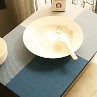 Wielobarwne Proste Plac Wzorzyste tabeli Mat na obiad, L45cm x szer. 30cm, żaroodporne PVC